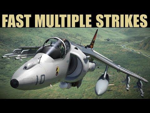 TACTICAL Strike On Multiple Red Targets   Harrier, Viggen & Tiger   DCS WORLD