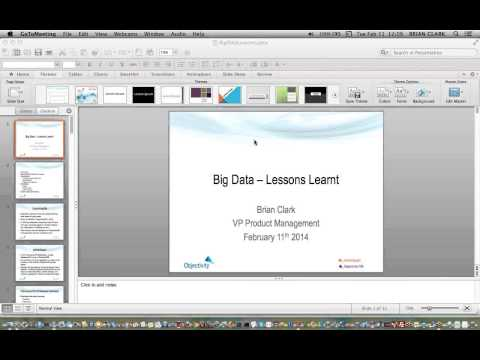 Lunch  Learn  Big Data Use Cases – Lessons Learned