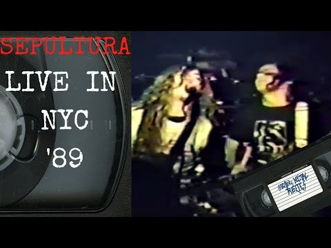 Sepultura Live in New York City NY December 22 1989 FULL CONCERT