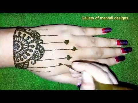 Step by step bracelet type hearts💞 mehndi design tutorial ll by Gallery of mehndi designs thumbnail