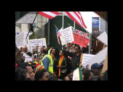 Part III: Ethiopians is California and Nevada Protesting at Saudi Embassy LA