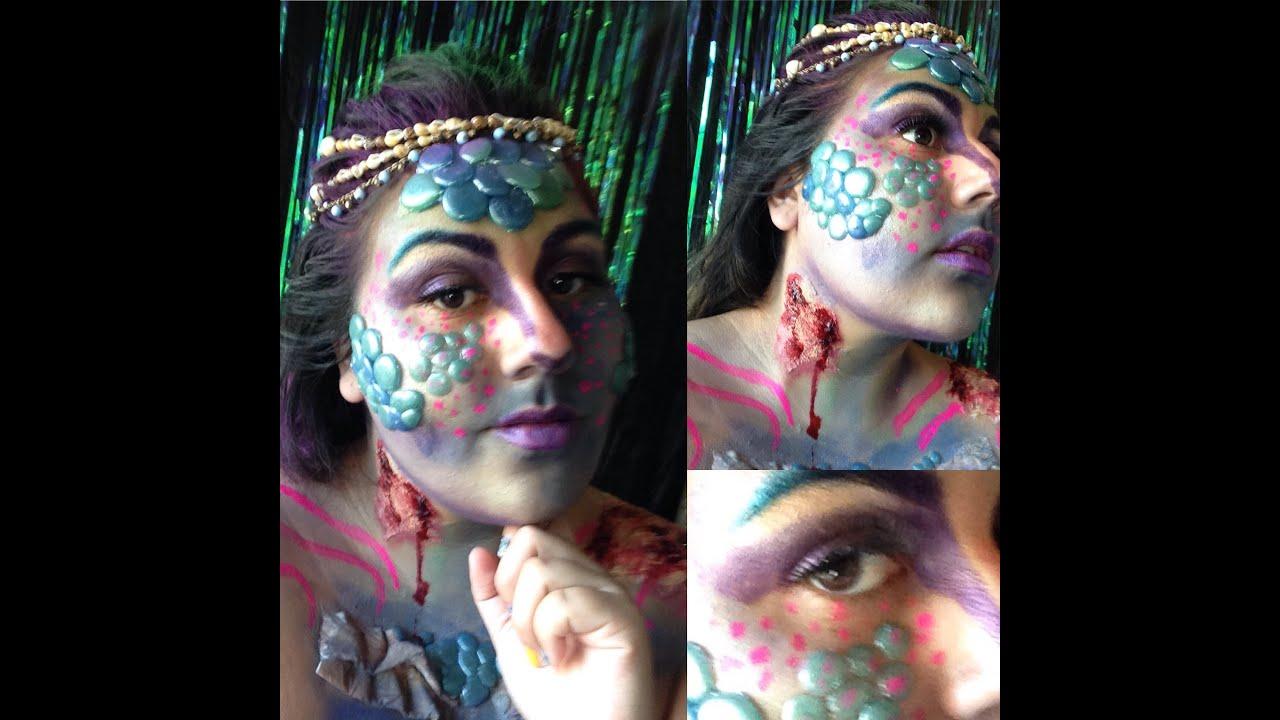 halloween makeup madness day11: Hurt Mermaid using Gelatin - YouTube