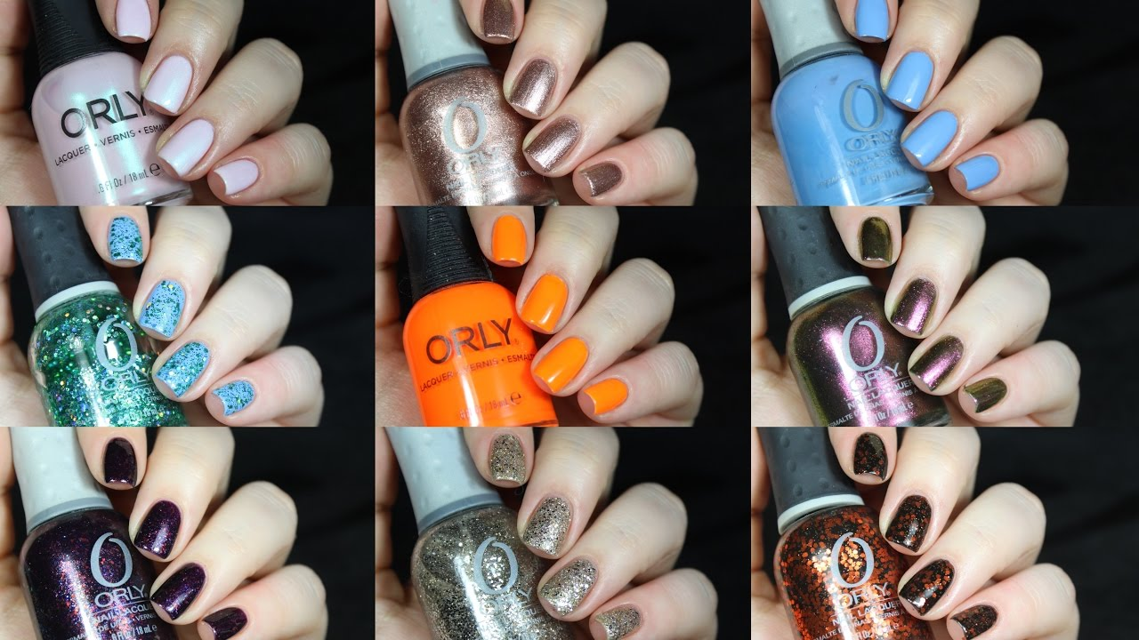 Top 10 Orly Nail Polishes!! - YouTube