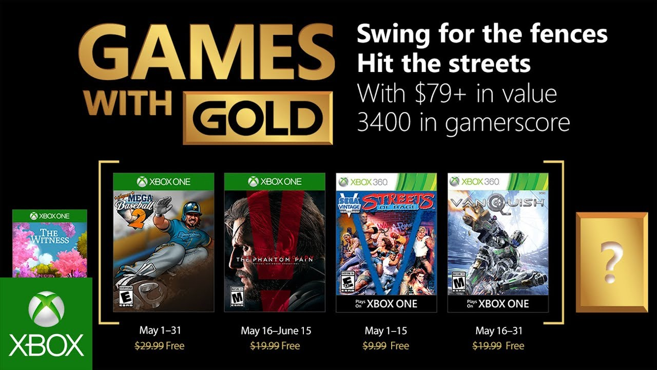 Xbox May 2018 With Gold