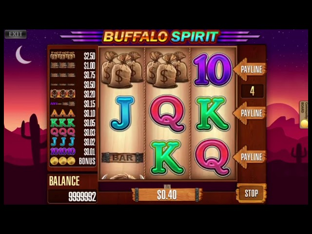 Custom slot machine software. Buffalo Spirit from Inbet Games