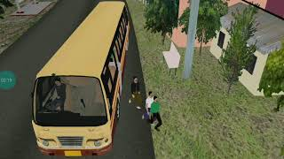 Bus simulator mobile Android gameplay