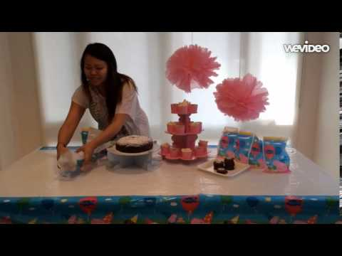 Peppa Pig Party Table Set Up Youtube