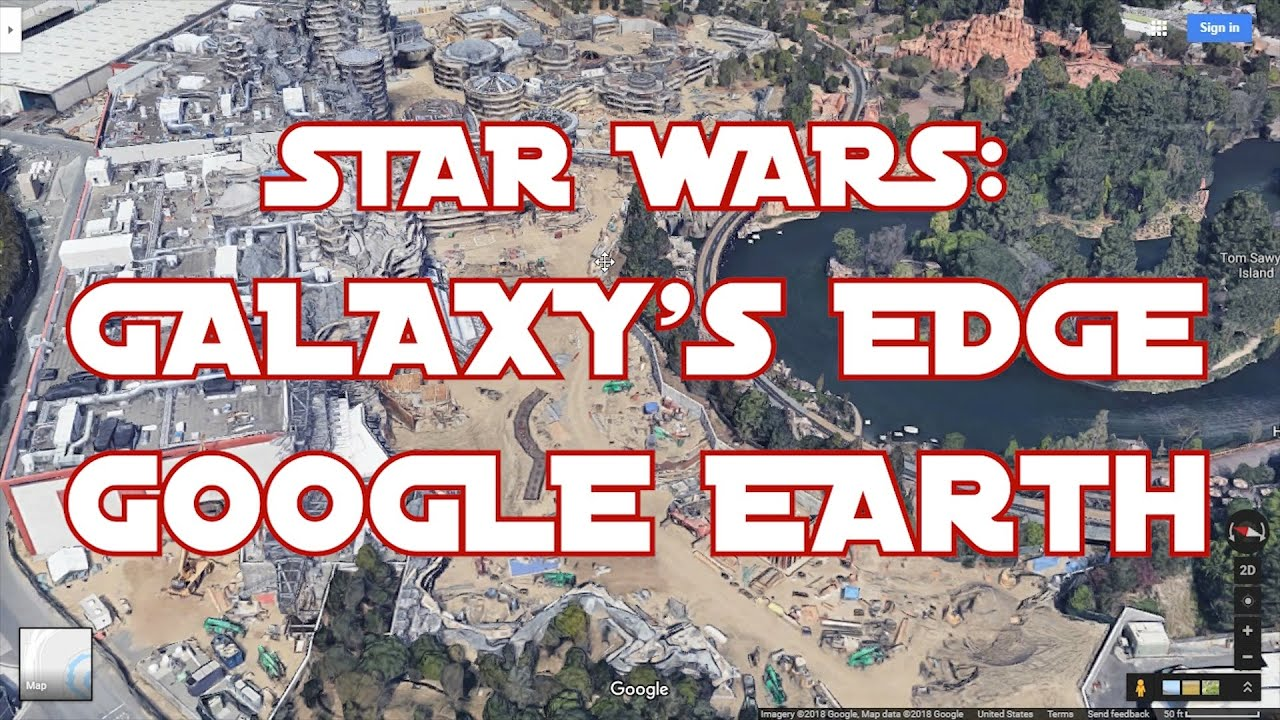 STAR WARS LAND: GALAXY'S EDGE VISIBLE ON GOOGLE MAPS Galaxy Maps Google on google lightning map, google classic map, google kingston map, google solar system map, google pluto map, google venus map, google transit map, google sky map, google space map, google jupiter map, google explorer map, google universe map,
