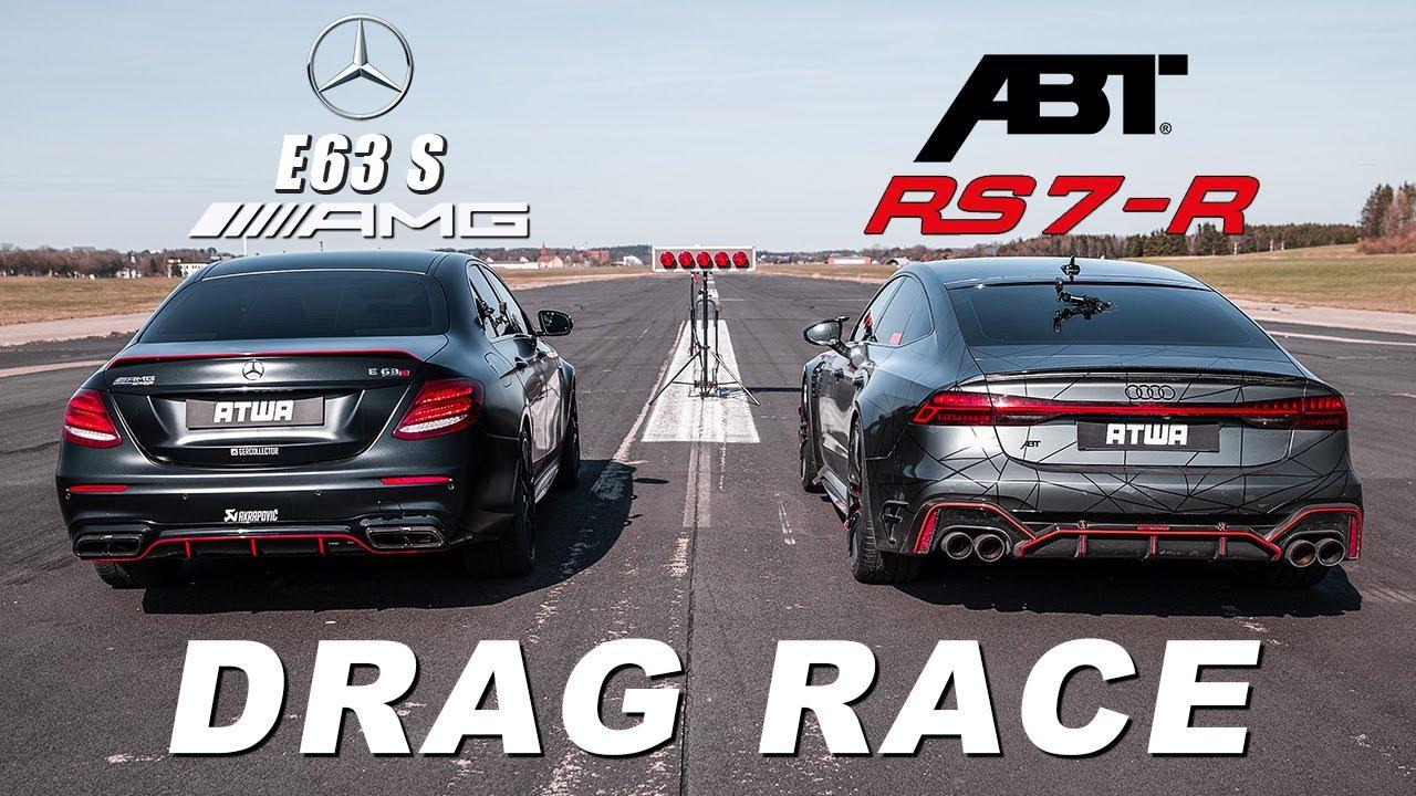 ABT RS7-R vs. 840PS MERCEDES-AMG E63 S   DRAG RACE   Daniel Abt
