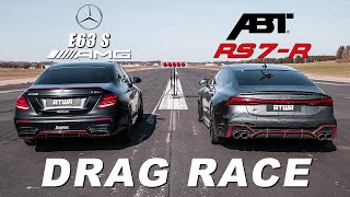 ABT RS7-R vs. 840PS MERCEDES-AMG E63 S | DRAG RACE | Daniel Abt
