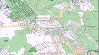 видео Карта Московской области