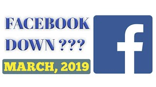 Facebook Down? Why ?