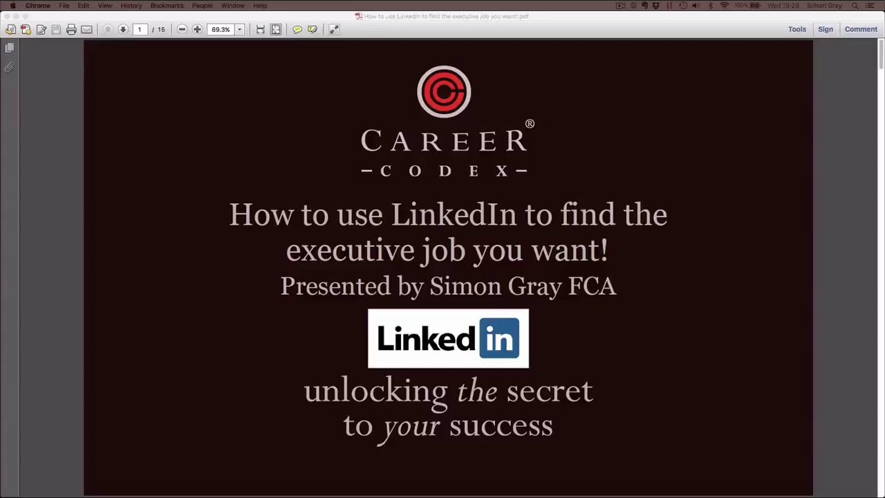 How to use LinkedIn to find the executive job you want! - YouTube