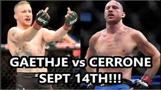 DONALD CERRONE vs JUSTIN GAETHJE UFC VANCOUVER ON SEPTEMBER 14TH!!!