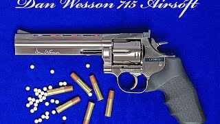 asg dan wesson airsoft revolver 715 model a 450 fps shooter