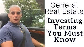 General Real Estate Investing Terms You Must KNOW to be Investor profit Big!