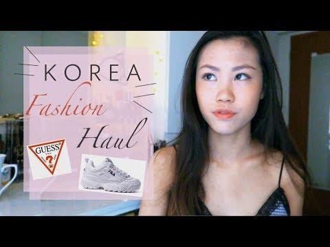 KOREA Try On Fashion Haul 2018 - Myeongdong, Ewha, Guess, Fila