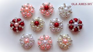 Канзаши/ Серединки для канзаши своими руками Мастер Класс/ Kanzashi Flower tutorial/ Ola ameS DIY