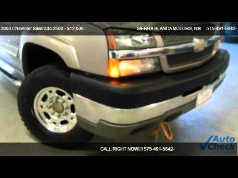 2003 Chevrolet Silverado 2500 Ls For Sale In Ruidoso Nm