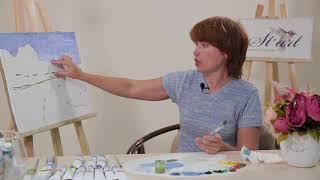Бесплатный урок по масляной живописи: рисуем пейзаж (часть 1)