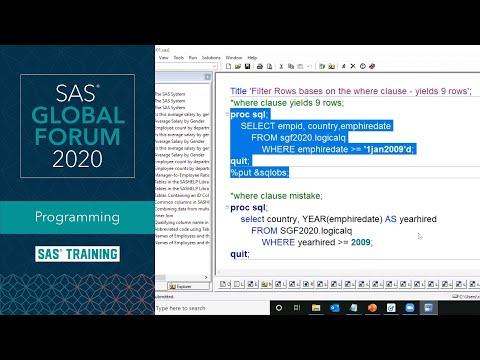 SAS Tutorial | Step-by-Step PROC SQL