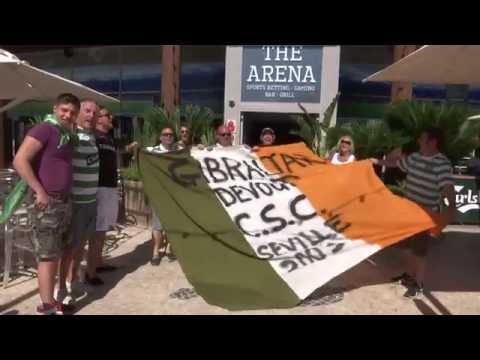 Celtic Match &  fans in Gibraltar