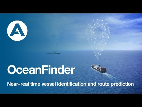 OceanFinder: Near-real time vessel identification and route prediction