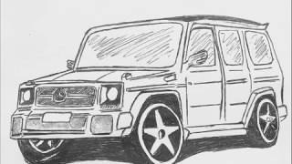 How to Draw Mercedes Benz G Class by photos
