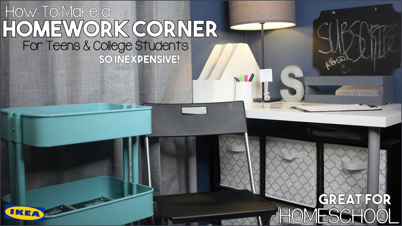 Diy Homework Corner Transformation For Teens College Students Great Homeschool
