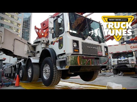 Concrete Boom Pump for Children | Truck Tunes for Kids | Twenty Trucks Channel