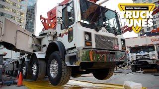 Concrete Boom Pump for Children | Truck Tunes for Kids | Twenty Trucks Channel