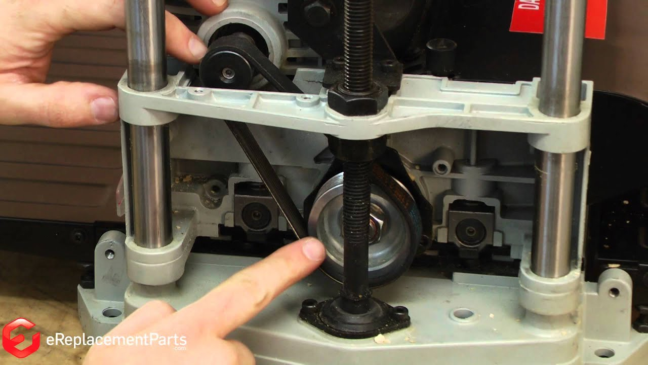 How To Replace The Drive Belt In A Delta Tp305 Planer A