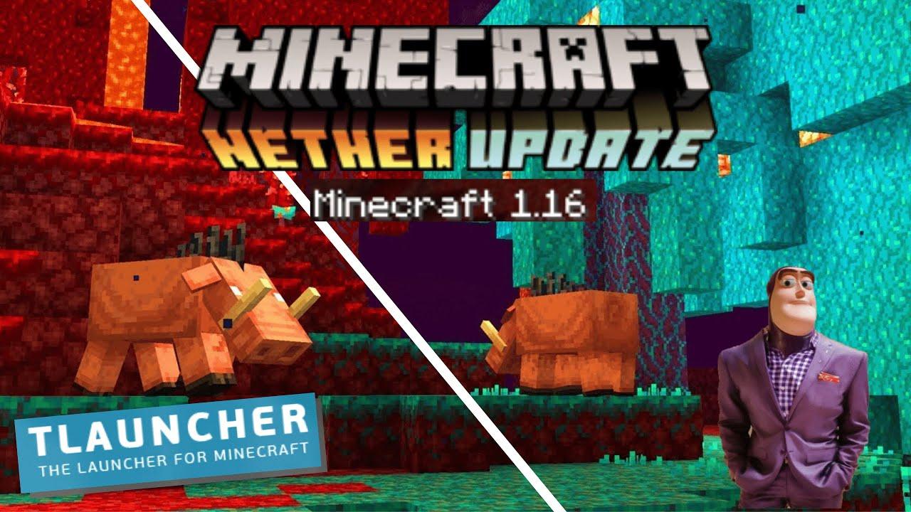 Como baixar e jogar MINECRAFT 8.86 Nether Update (TLauncher) - YouTube