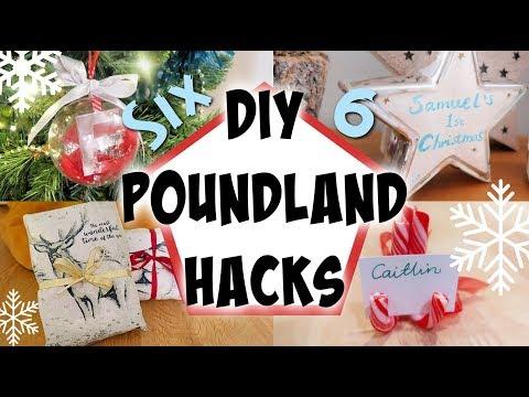 Christmas DIY poundland hacks