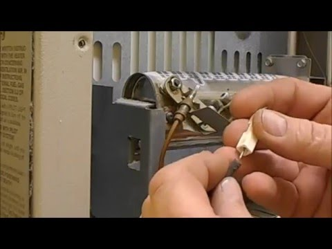 Cleaning a vent free gas heater pilot light
