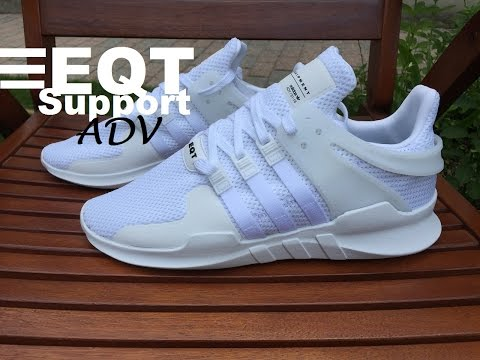 Adidas EQT Support ADV 91-16 Triple White (Equipment) - Unboxing & On Feet HD