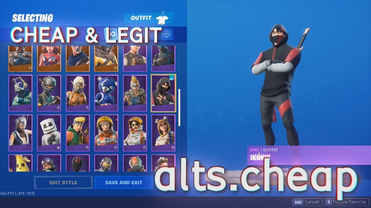 🙀 I BOUGHT STACKED IKONIK SKIN | THE MOST LEGIT FORTNITE SHOP | SHOPPY.GG/SELLY.GG/ATSHOP.IO 🙀