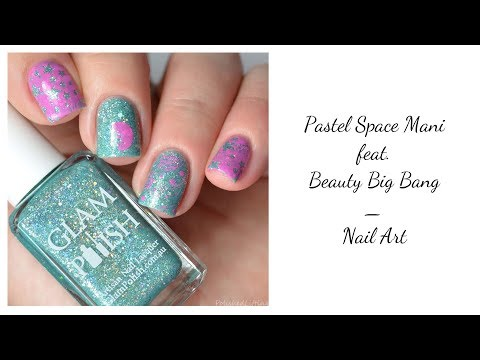 Pastel Space Nail Art Feat. Beauty Big Bang