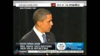 Obama Dismantles Republican Caucus Part 1 of 7