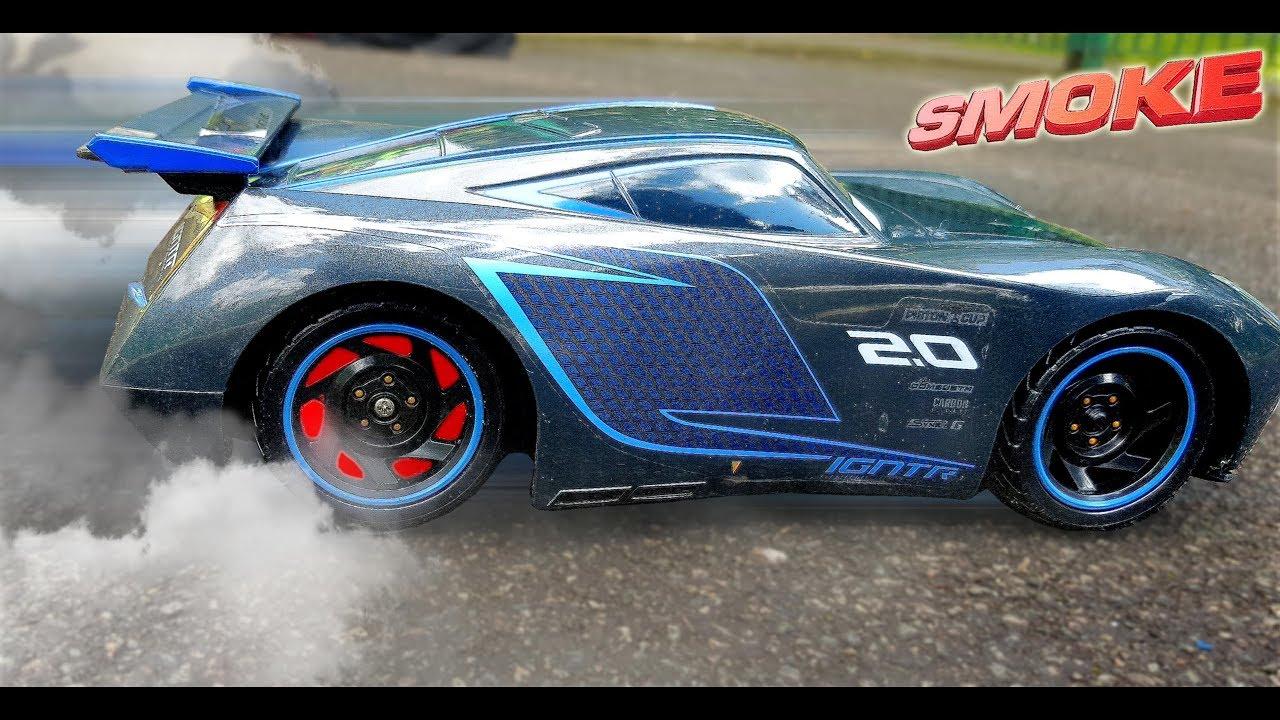 Disney Cars 3 Toys Rc Ultimate Jackson Storm Drift Smoking