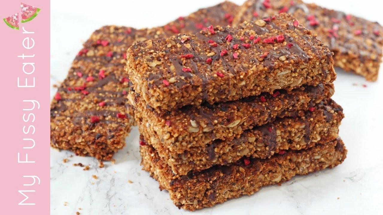 Chocolate Quinoa Granola Bars | Healthy Snack Recipe