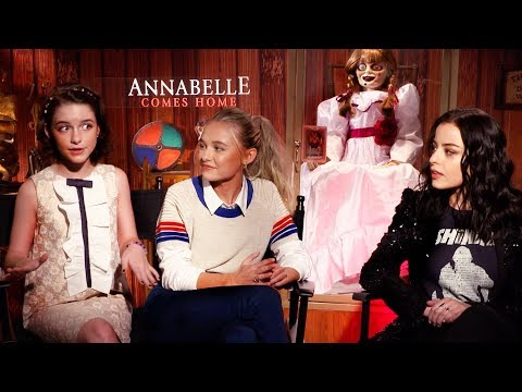 McKenna Grace, Katie Sarife & Madison Iseman Interview for Annabelle Comes Home