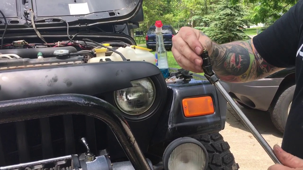 jeep tj wrangler 97 06 angry bird jeep grill install [ 1280 x 720 Pixel ]