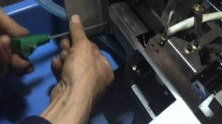 Mold Setup 01 for Cloth Label Cutting and Folding Machine