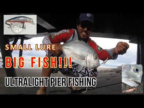 SMALL LURE BIG FISH    ULTRALIGHT PIER FISHING