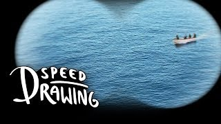 Captain Phillips 2014 Oscar Best Picture Poster Speed Drawing HD