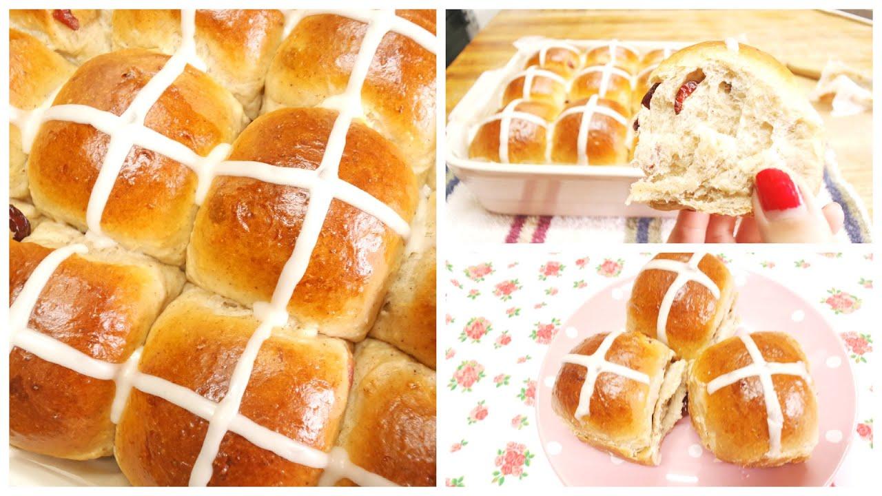 Soft Sweet Bread Recipe Hot Cross Bun - YouTube