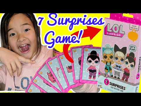 LOL Surprise Game | LOL 7 Surprises Card Game | Collect LOL Surprise