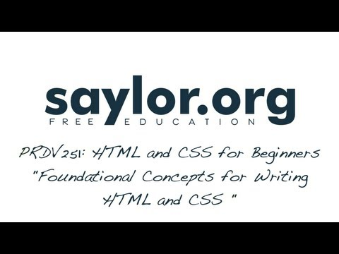 Foundational Concepts: HTML & CSS For Beginners - Professional Development 251