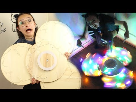 MEGA Fidget Spinner DIY | Geeft Licht! Makkelijk! IKEA Hack!